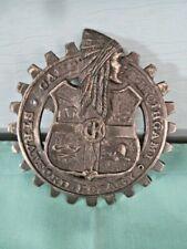 "VTG. Camp Kitcihgami - Duluth Minnesota YMCA Cast Iron 4"" Badge - Indian Motif"