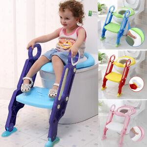Riduttore WC per Bambini Con Schienale Alto,scaletta,training WC vasino sedile