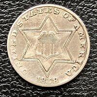 1858 Three Cent Piece Silver Trime 3c High Grade #18446