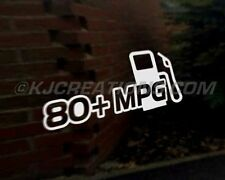 80+ MPG car vinyl decal vehicle bike graphic bumper sticker