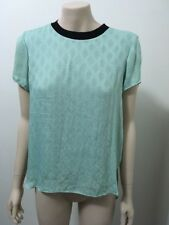 Pre-loved Designer ''Rachel Roy'' Light Green Fully-lined High- Low  Top Size S