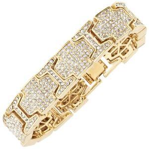 ICED Bling Hip Hop Diamond Bracelet - ICE LINK gold