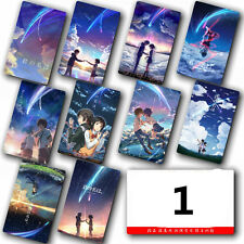 Anime Kimi no Na wa Your Name 10pcs/set Card Paster IC Card Sticker Credit