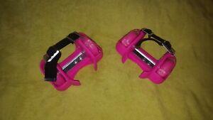 Pink Heelys Kids Adjustable Strap On Light Up Wheels (roller skates)