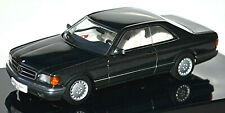 Mercedes Benz 500 SEC Coupe C126 blauschwarz blue black metallic 1:43 AUTOart