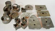 Vintage Rustic Primitive German Pre War Tin Soldered Cookie Cutter Lot of 16