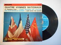 QUATRE HYMNES NATIONAUX : LA MARSEILLAISE - HYMNE NATIONAL DE L'URSS ► EP / 45 ◄
