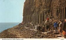 Postcard  Scotland  Staffa  bending columns Western isles  posted dennis