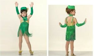 Child Small HOLIDAY Dance Jazz Costume Christmas with Hat