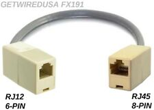 RJ12 RJ11 6P6C 6PIN to RJ45 CAT5 ETHERNET 8P8C 8PIN FEMALE HEADSET PHONE ADAPTER