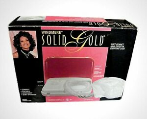 Windmere Solid Gold Vintage Hair Dryer with Bonnet and Carrying Case