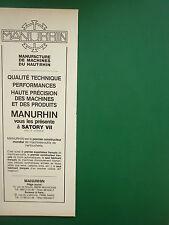 4/1979 PUB MANURHIN MULHOUSE MACHINES OUTIL CARTOUCHERIE 357 MAGNUM ORIGINAL AD