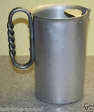 VINTAGE B.W. BUENILUM ALUMINUM WATER PITCHER W/SPIRAL HANDLE