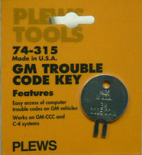 NOS! PLEWS GM TROUBLE CODE KEY, No. 74-315