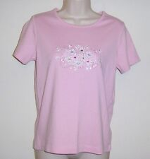 """Hasting & Smith Petite Pink Floral Studded Pull Over Top PS  Bust 36"""" Length 23"""""""