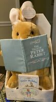 "Peter Rabbit Talking Plush Read With Me Holding Book Beatrix Potter 12""    NEW"