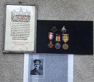 WW1 MEDAL GROUP BRITISH OFFICER CASUALTY GALLIPOLI WORCESTERSHIRE REGIMENT KIA