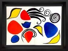 Alexander Calder Original Farbe Doppel Lithographie 1975 mit / Rahmen Enthält