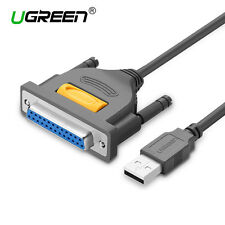 UGREEN USB to DB25 25Pin Parellel IEEE Printer Adapter Cable Converter 3FT New