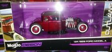 1929 Ford Model A Hot Rod Die-cast Car 1:24 Maisto Outlaws 7 inch Wine
