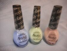 NICOLE BY OPI NAIL POLISH LOT OF 3 MAKING CLAIRE ALEX BOOKS STAND MANNY FAMILY