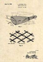 Official Shrimp Trawling Net US Patent Art Print- Antique Vintage 1950 Fish -482
