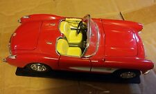031 Metal 1957 Corvette Convertible Model Red Fuel Injected 2 Seater Classic