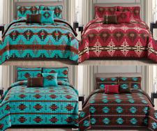 Rustic Southwestern Aztec Quilt Coverlet - 5 Piece Set