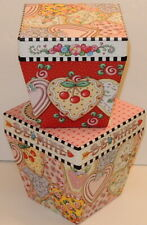 Mary Engelbreit Valentine's Day Be Mine Heart Cookie Stacking Boxes Punch Studio