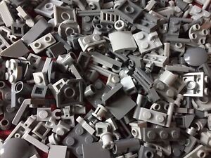 Lego - 100 Brand NEW MIXED UP GREY Small Cone, Plate, Brick Lego Pieces