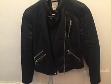 Zara trafaluc leather jacket Small