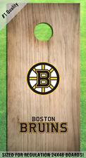 Boston Bruins Corn Hole Bag Toss High Quality Decals HD - Full Set