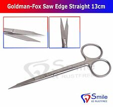 Goldman-Fox Scissors Saw Edge 13cm STR For Trimming And Cutting Sutures Dental
