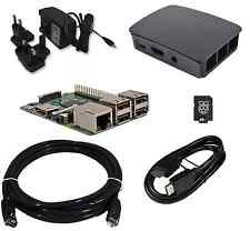 Raspberry Pi 3-QUAD CORE ufficiale CUSTODIA NERA 8GB Starter Bundle (2016 modello)!