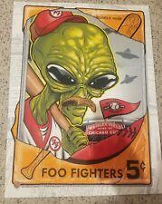 Foo Fighters Poster~Chicago, Il~Wrigley Field~Night 2 7/30/18~Zombie Yeti~Wow