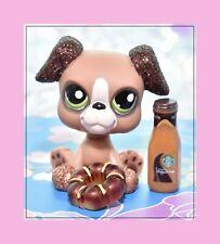 ❤️Authentic Littlest Pet Shop LPS #2351 Sparkle Glitter Boxer Puppy Dog Pretty❤️