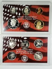 2002 United States Mint Silver Proof Set without Box or COA