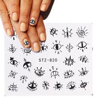 Nail Art Water Decals Stickers Transfers Halloween Tribal Eyes Eye Spooky (820)