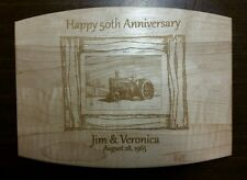 Personalized Maple Cutting Board wedding anniversary gift farmer tractor kitchen