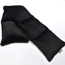 Wheat Bag. Heat Pack. Long 5 sectioned BLACK 65 x 14 cm Neck, Shoulder UNSCENTED
