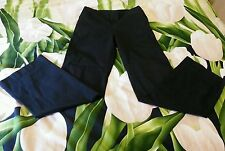 lacoste black straigth wide leg women pants size 40 (us 5, 6) made in France