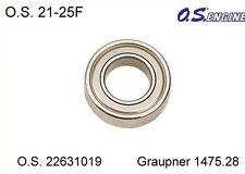 O.S. 22631019 Ball bearing 21 - 25f delimitador frontal rodamientos de bolas Graupner 1475.28/1478.42