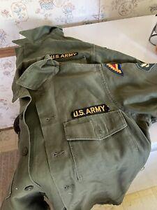 Vintage OG 107 US Army Fatigue Shirt Mens 151/2x31 Green Vietnam Era. Two Shirts