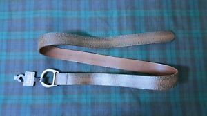 POLO RALPH LAUREN DISTRESSED BROWN LEATHER  Double-O Ring LEATHER BELT Sz: LARGE