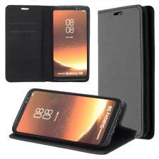 Samsung Galaxy S8 G950F Cartera Funda Cover Flip Wallet Case bolsa Negro