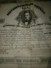 Confederate States Of America Loan Stamps One Thousand