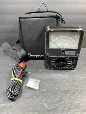 Simpson Ts 111 Series 3 Excellent Tester Multimeter With Cables Amp Carry Case