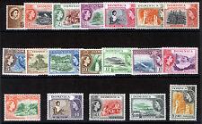 DOMINICA 1954-57 DEFINITIVES SG140/158 MNH