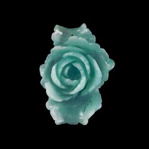 Hand Carved Peony Pendant Bead GH999102