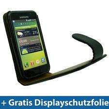 Schwarz PU Leder Tasche für Samsung Galaxy S i9000 Handy Schutz Hülle Case Etui